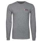 Grey Long Sleeve T Shirt-125 Years Mark