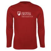 Performance Cardinal Longsleeve Shirt-Primary Mark