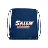 Navy Drawstring Backpack-Salem State Vikings Word Mark