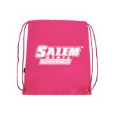 Pink Drawstring Backpack-Salem State Vikings Word Mark