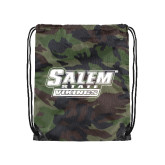 Camo Drawstring Backpack-Salem State Vikings Word Mark
