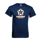 Navy T Shirt-Salem State Soccer Geometric Ball