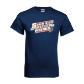 Navy T Shirt-Salem State Hockey Slanted