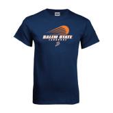 Navy T Shirt-Salem State Lacrosse Modern