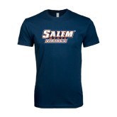 Next Level SoftStyle Navy T Shirt-Salem State Vikings Word Mark