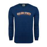 Navy Long Sleeve T Shirt-Salem State University Arched