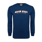 Navy Long Sleeve T Shirt-Salem State Vikings Arched