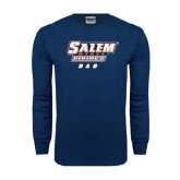 Navy Long Sleeve T Shirt-Dad