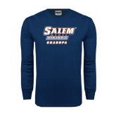 Navy Long Sleeve T Shirt-Grandpa