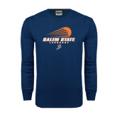 Navy Long Sleeve T Shirt-Salem State Lacrosse Modern