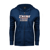 ENZA Ladies Navy Fleece Full Zip Hoodie-Grandma