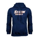 Navy Fleece Hoodie-Salem State Vikings Word Mark