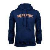 Navy Fleece Hoodie-Salem State University Arched