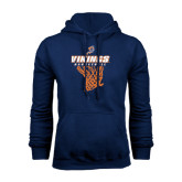 Navy Fleece Hoodie-Vikings Basketball w/Net