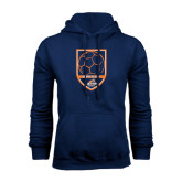 Navy Fleece Hoodie-Salem State Soccer Shield