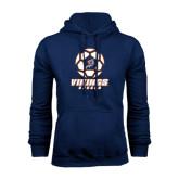 Navy Fleece Hoodie-Salem State Soccer Geometric Ball
