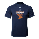Under Armour Navy Tech Tee-Vikings Basketball w/Net