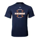 Under Armour Navy Tech Tee-Vikings Softball w/Seams