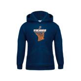 Youth Navy Fleece Hoodie-Vikings Basketball w/Net