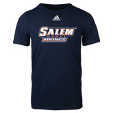 Adidas Navy Logo T Shirt-Salem State Vikings Word Mark