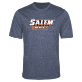 Performance Navy Heather Contender Tee-Salem State Vikings Word Mark