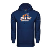 Under Armour Navy Performance Sweats Team Hoodie-Primary Logo