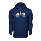 Under Armour Navy Performance Sweats Team Hoodie-Salem State Vikings Hockey