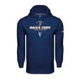Under Armour Navy Performance Sweats Team Hoodie-Salem State Geometric Lacrosse Stick