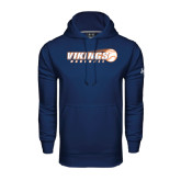 Under Armour Navy Performance Sweats Team Hoodie-Vikings Baseball w/Flyng Ball
