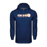 Under Armour Navy Performance Sweats Team Hoodie-Vikings Softball w/Flyng Ball