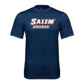 Syntrel Performance Navy Tee-Salem State Vikings Word Mark