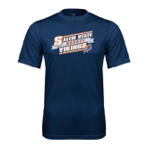 Syntrel Performance Navy Tee-Salem State Hockey Slanted