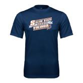 Syntrel Performance Navy Tee-Salem State Hockey Slanted