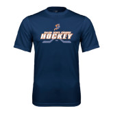 Syntrel Performance Navy Tee-Salem State Vikings Hockey