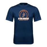 Syntrel Performance Navy Tee-Vikings Basketball w/Ball
