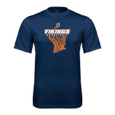 Syntrel Performance Navy Tee-Vikings Basketball w/Net