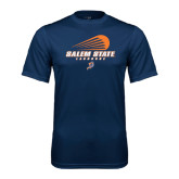 Syntrel Performance Navy Tee-Salem State Lacrosse Modern