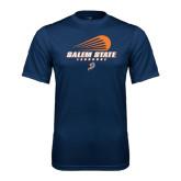 Syntrel Performance Navy Tee-Salem State Lacrosse Modern