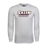 White Long Sleeve T Shirt-Salem State Vikings Word Mark