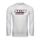 Syntrel Performance White Longsleeve Shirt-Salem State Vikings Word Mark