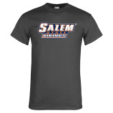 Charcoal T Shirt-Salem State Vikings Word Mark