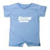 Light Blue Infant Romper-Salem State Vikings Word Mark