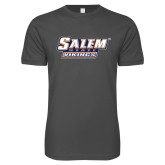 Next Level SoftStyle Charcoal T Shirt-Salem State Vikings Word Mark