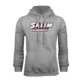 Grey Fleece Hoodie-Salem State Vikings Word Mark
