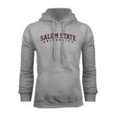 Grey Fleece Hoodie-Salem State University Arched
