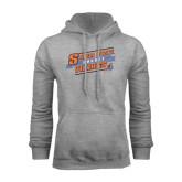 Grey Fleece Hoodie-Salem State Hockey Slanted