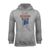Grey Fleece Hoodie-Vikings Basketball w/Net