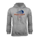 Grey Fleece Hoodie-Salem State Lacrosse Modern