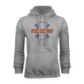 Grey Fleece Hoodie-Vikings Softball w/Seams