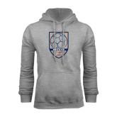 Grey Fleece Hoodie-Salem State Soccer Shield